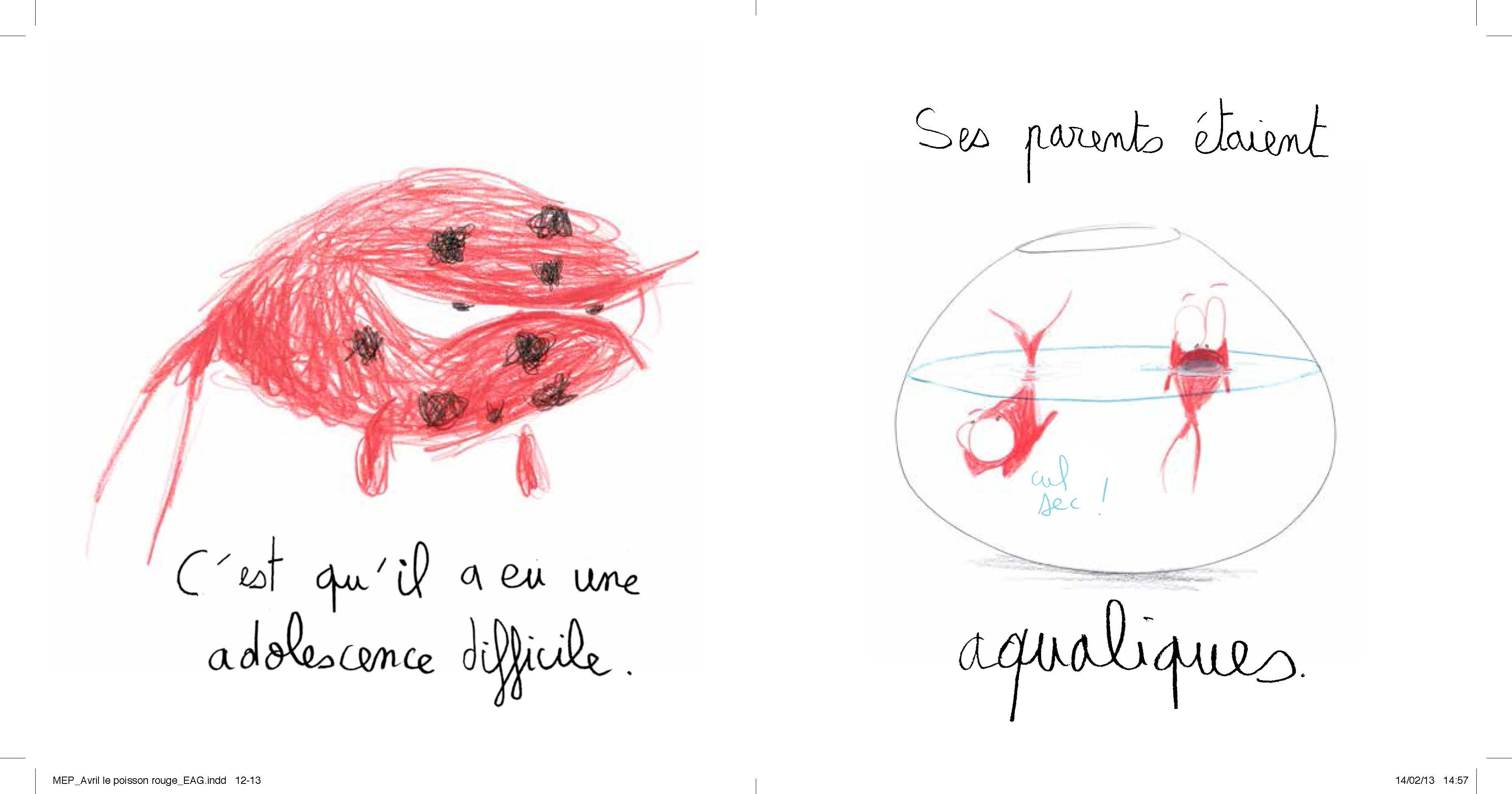 Avril le poisson rouge carnets du libraire for Poisson de bocal